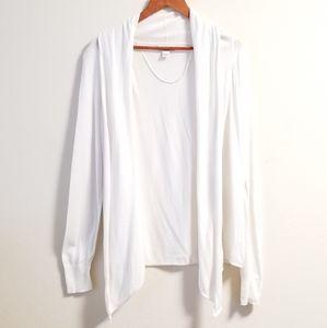 LOFT Ivory Long Sweater Cardigan